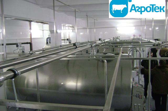 Цех переработки молока (вид изнутри)