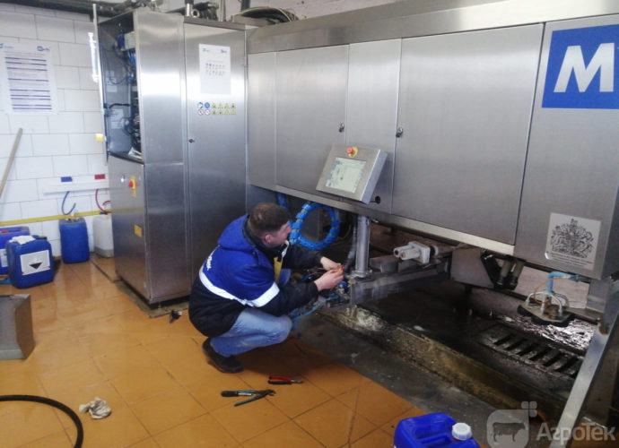Плановое обслуживание доильной установки Merlin M2