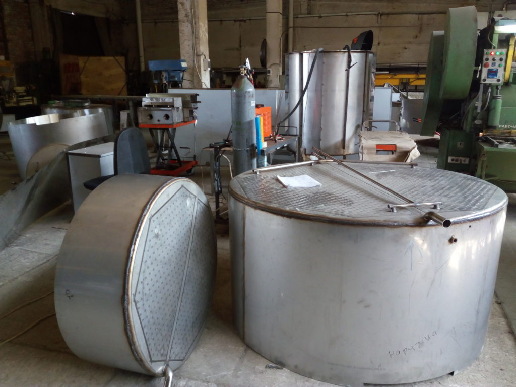 Новое оборудование для завода по переработке молока