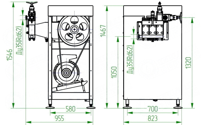 Гомогенизатор плунжерный высокого давления ГМ 1,25/20М2Д (1250 ЛЧАС)