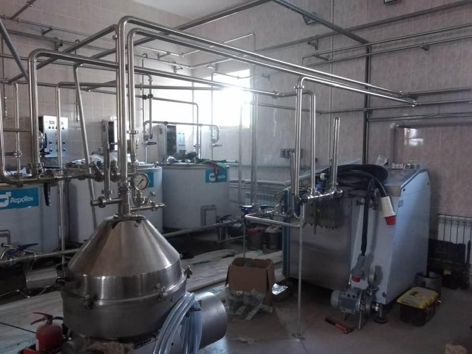 Монтаж завода по переработке молока на 30 тонн в сутки